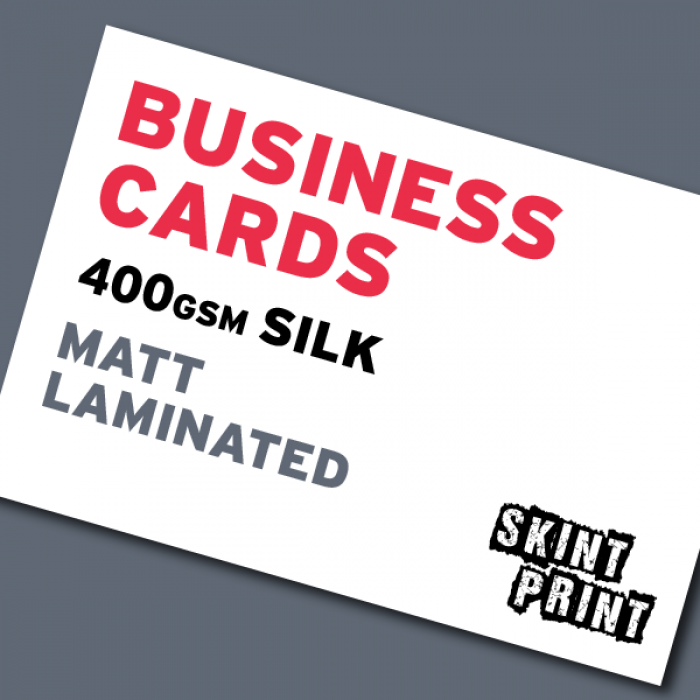 400gsm matt laminated business cards colourmoves Image collections